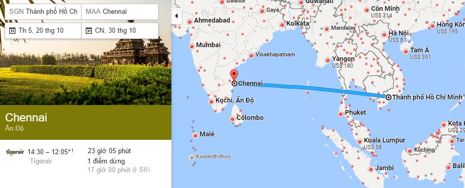 HCM - Chennai t10 map
