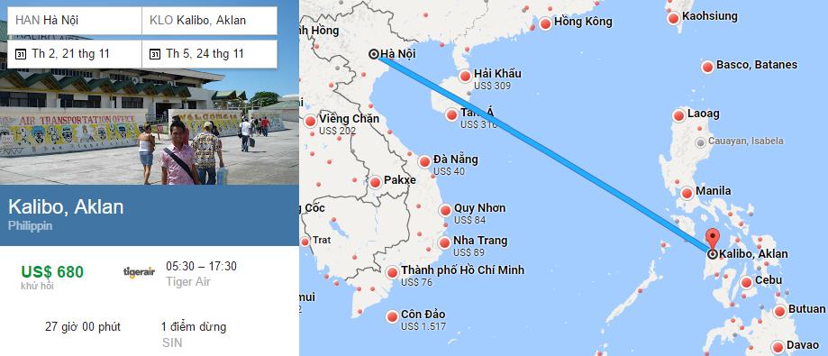 Tham khảo hành trình bay từ Hà Nội đến Boracay