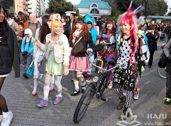 Phong cách thời trang Harajuku ở Nhật Bản
