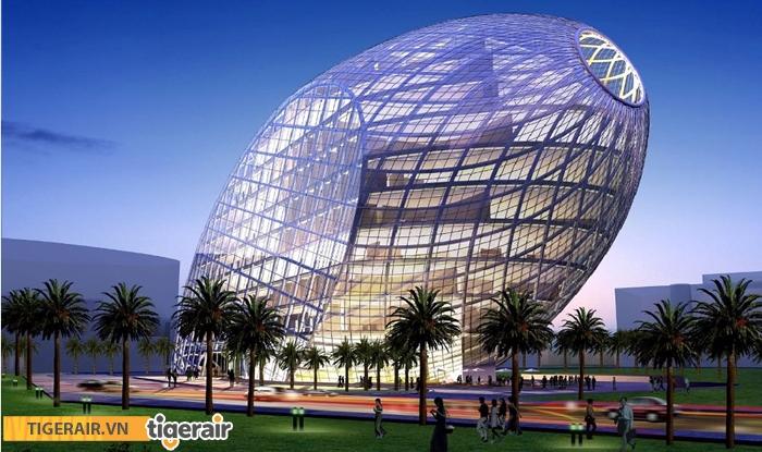 Tòa nhà hình trứng CyberTecture Egg