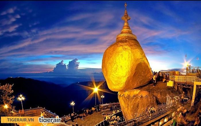 chùa Núi vàng Golden Rock