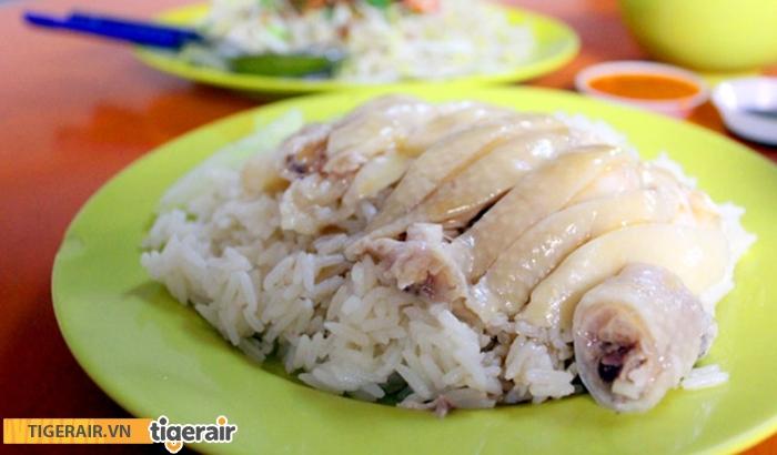 Món cơm gà Hải Nam Maxwell