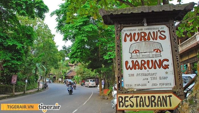 Nơi bạn có thể thưởng thức món ăn truyền thống Bali