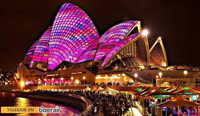 Tham gia Lễ hội ánh sáng Vivid Sydney 2017